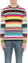 Gucci Striped Cashmere And Wool-blend Jumper