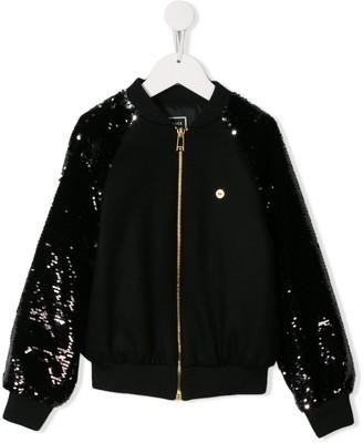 Versace Sequinned Bomber Jacket
