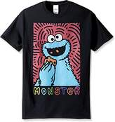 Sesame Street Men's Cookie Monster Bubble Letters T-Shirt
