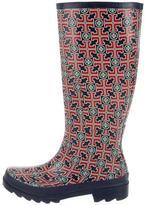 Tory Burch Logo Rubber Rain Boots
