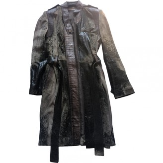 Christian Dior Brown Leather Coats