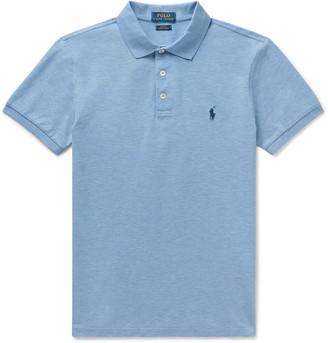 Polo Ralph Lauren Slim-Fit Melange Stretch-Cotton Pique Polo Shirt