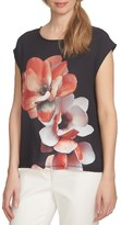 CeCe Women's Bloom Mixed Media Tee
