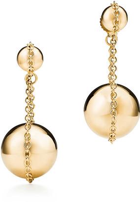 Tiffany & Co. City HardWear double drop earrings in 18ct gold