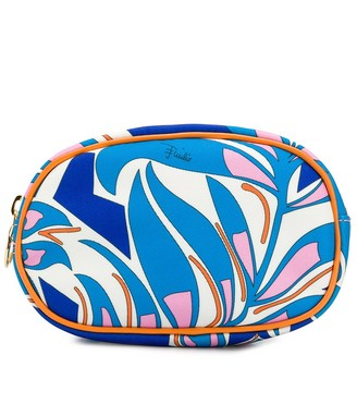 Emilio Pucci printed leather-trimmed makeup bag