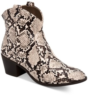 Style&Co. Style & Co MyKenna Western Ankle Booties, Created for Macy's Women's Shoes