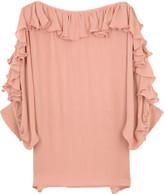 Ruffle trim blouse