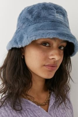 Urban Outfitters Faux Fur Oversized Bucket Hat - Blue ALL at