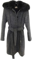 John Galliano Grey Wool Coat for Women