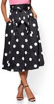 New York & Co. 7th Avenue - Paperbag-Waist Full Skirt - Polka-Dot Print