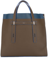 Furla contrast detail structured tote
