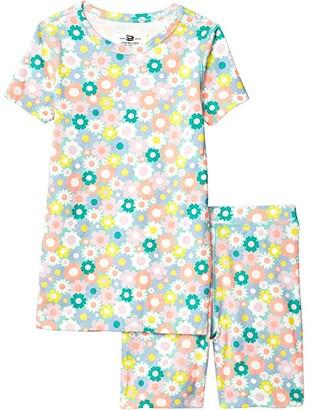 crewcuts by J.Crew Short Sleeve Floral Sleep Set (Toddler/Little Kids/Big Kids) (Aqua Multi) Girl's Pajama Sets