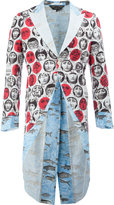 Comme des Garcons x Fornasetti printed tailed jacket
