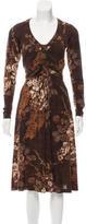 Etro Wool-Blend Midi Dress