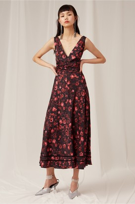Keepsake GENIUS MIDI DRESS black rose garden