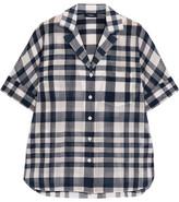 Theory Ralfinn Plaid Cotton-voile Shirt - medium