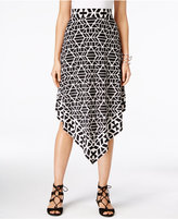 INC International Concepts Petite Printed Handkerchief-Hem Skirt, Only at Macy's
