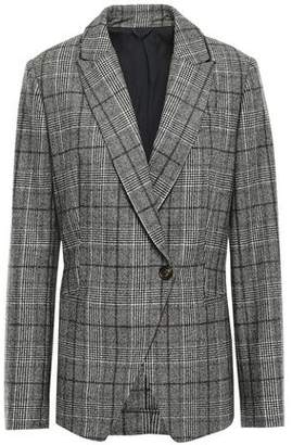 Brunello Cucinelli Prince Of Wales Checked Wool Blazer