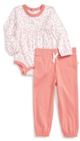 Infant Girl's Burt's Bees Baby Falling Leaves Organic Cotton Bodysuit & Pants Set