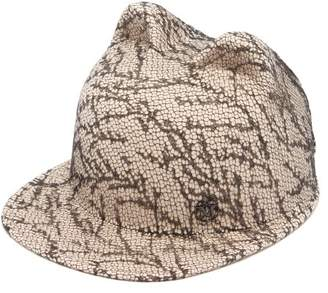 Maison Michel Jamie Cat-ears Lace And Felt Hat - Womens - Cream
