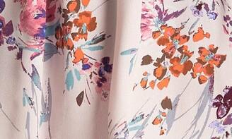 Love Stitch Floral Flutter Sleeve Wrap Dress