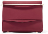 Eddie Borgo Boyd Small Matte-leather Clutch - Burgundy