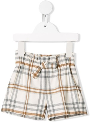 Il Gufo Check Print Shorts