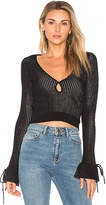 Ale By Alessandra x REVOLVE Belen Sweater in Black. - size L (also in M,S,XL,XS)