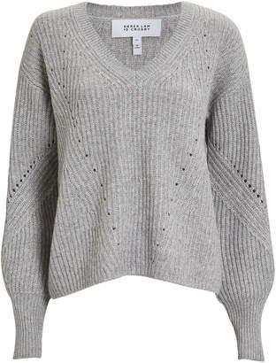 Derek Lam 10 Crosby Wool & Cashmere V-Neck Sweater