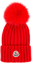 Moncler Berretto Tricot Beanie in Red | FWRD