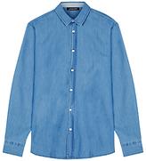Jaeger Indigo Cotton Shirt, Indigo
