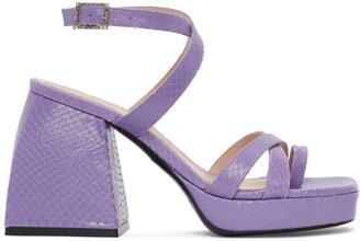 Nodaleto Purple Snake Bulla Siler Sandals