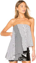 Asilio Empire Stripe Mix Drape Top