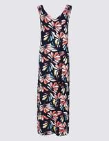 Marks and Spencer PETITE Leaf Print Maxi Dress