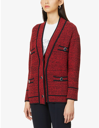Claudie Pierlot Maxiklas oversized knitted cardigan