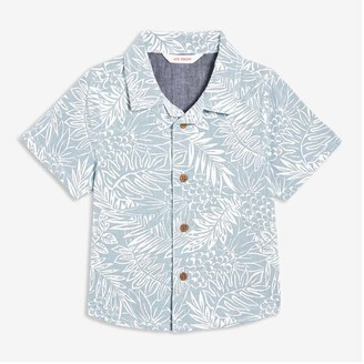 Joe Fresh Baby Boys' Print Shirt, Light Blue (Size 3-6)