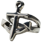 Femme Metale Jewelry Open Anchor Ring