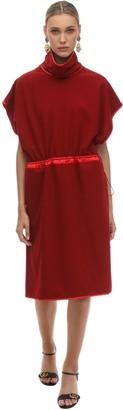 Gucci Soft Acetate & Silk Flannel Midi Dress
