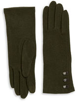 Lauren Ralph Lauren Button Cashmere and Wool-Blend Touch Gloves