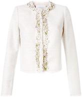 Giambattista Valli Floral Embellished Tweed Jacket
