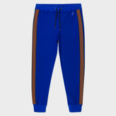 Paul Smith Men's Indigo Contrast Side-Stripe Track Pants