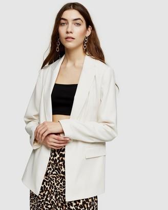 Topshop Women's White Blazers - Crepe Blazer - Size 12 at The Iconic