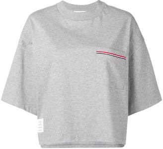Thom Browne Jersey Oversized Pocket Tee