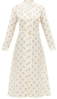 Giuliva Heritage Collection The Clara Geometric-print Cotton-blend Shirtdress - Womens - Ivory Multi