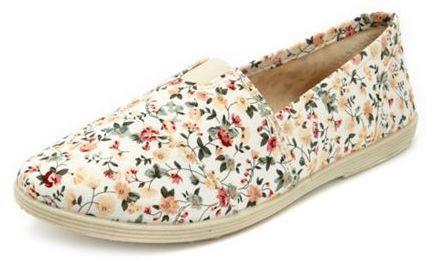 Charlotte Russe Slip-On Wrap Floral Flat