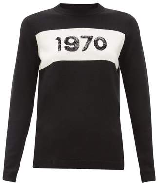 Bella Freud 1970 Sequinned Wool Sweater - Womens - Black White