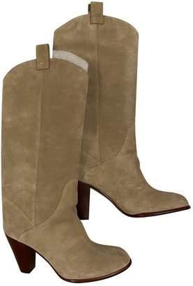 Marc by Marc Jacobs Beige Suede Boots