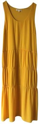 Maje Yellow Viscose Dresses