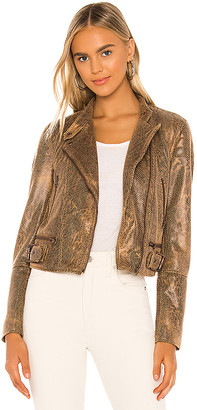Free People Snake Skin Fenix Jacket