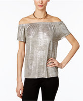 INC International Concepts Petite Metallic Off-The-Shoulder Top, Only at Macy's